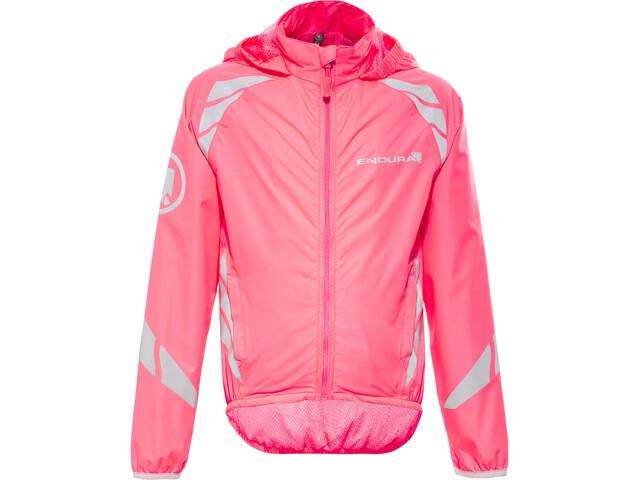Endura Luminite II Jakke Børn, hi-viz pink/reflective